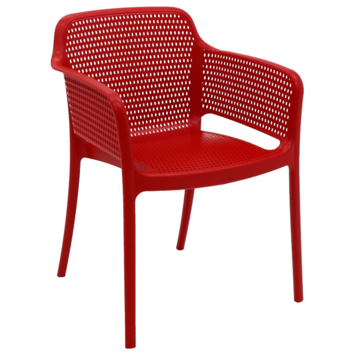 Cadeira Tramontina Gabriela Vermelha em Polipropileno e Fibra de Vidro