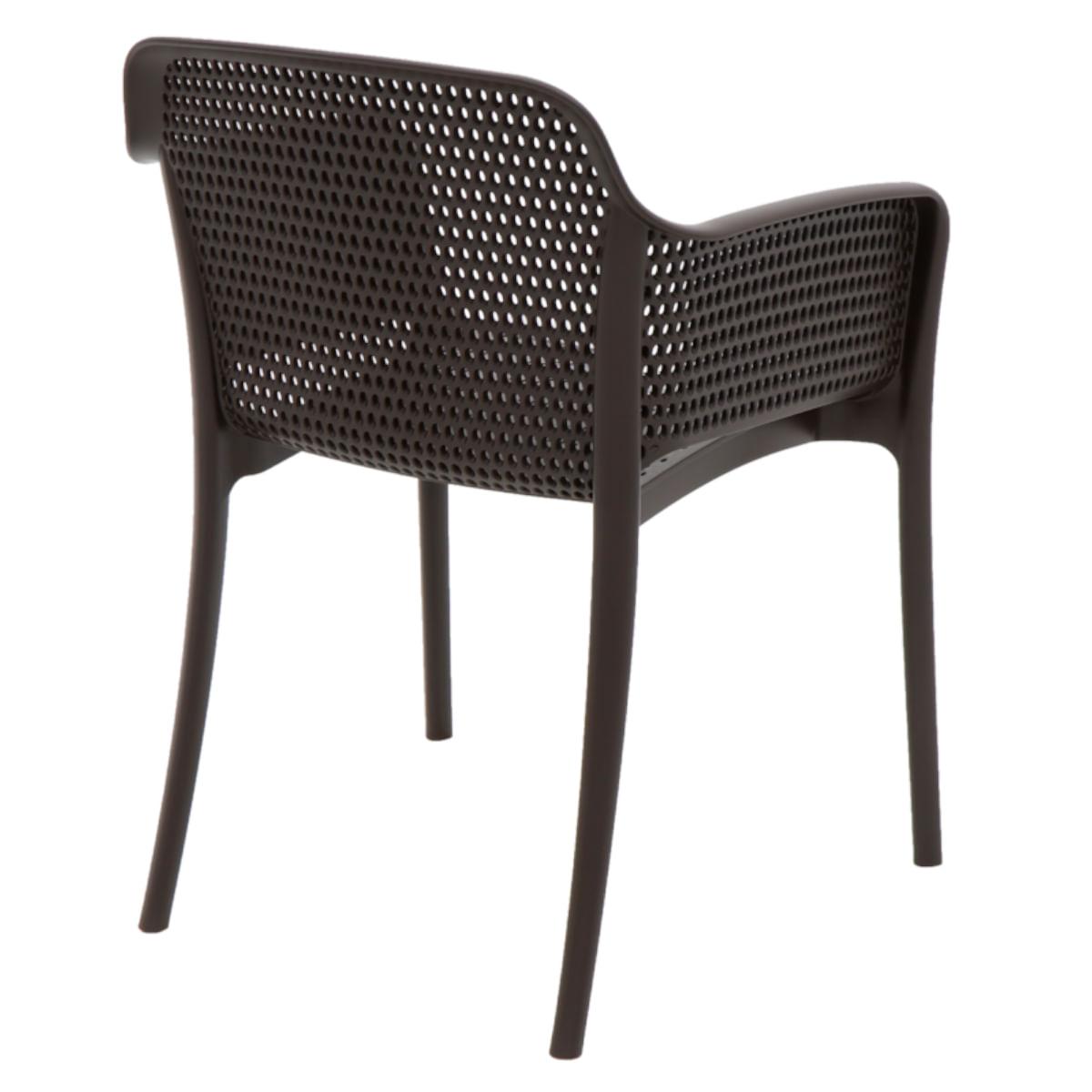 Cadeira Tramontina Gabriela Marrom em Polipropileno e Fibra de Vidro