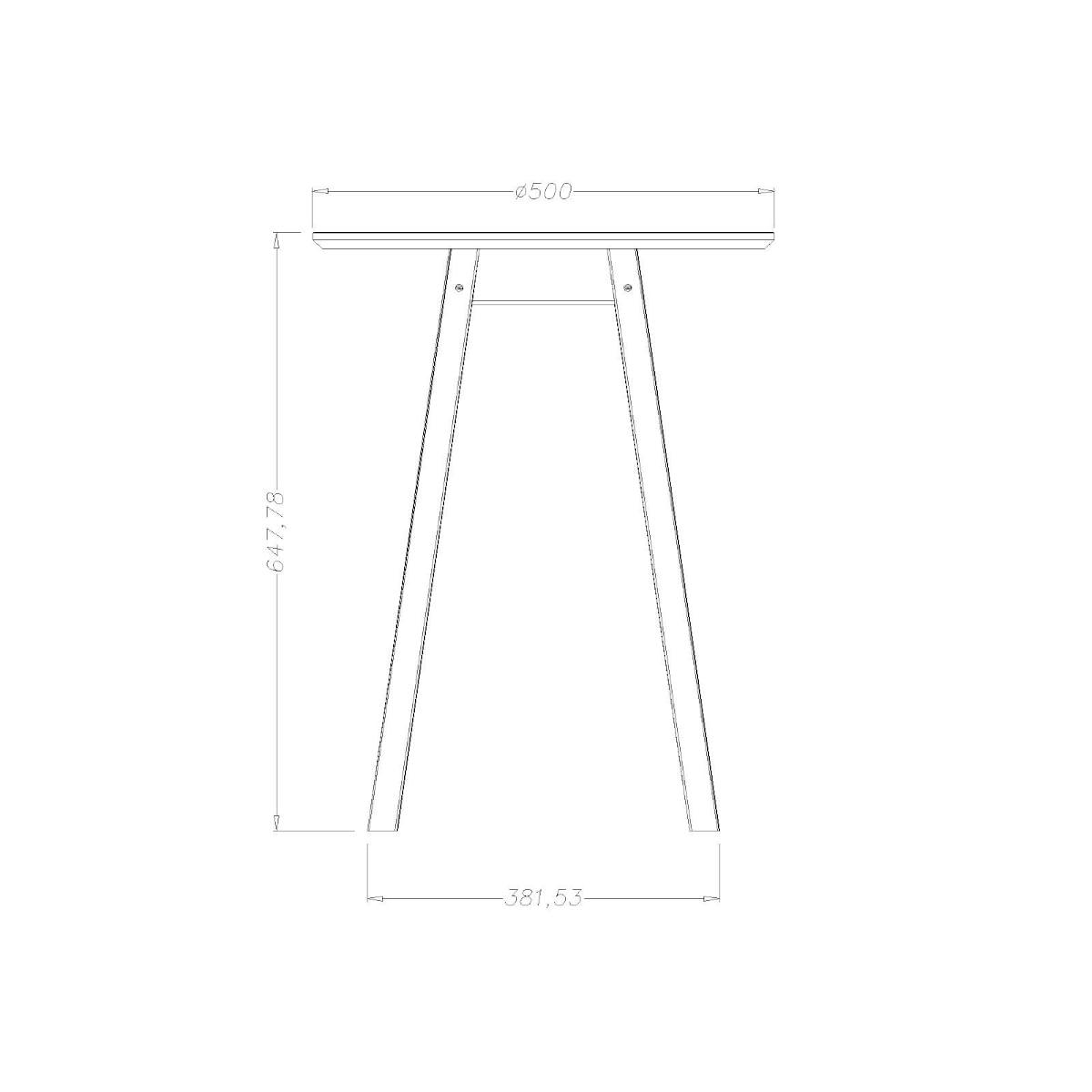 Mesa Lateral de Madeira Redonda Alta 50 x 67 cm Preta Tramontina 91458070