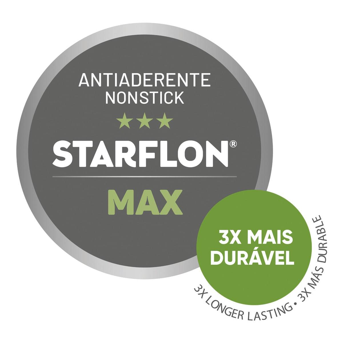 Jogo de Panelas Tramontina Coimbra 5 Peças Vermelha em Alumínio Antiaderente Starflon Max