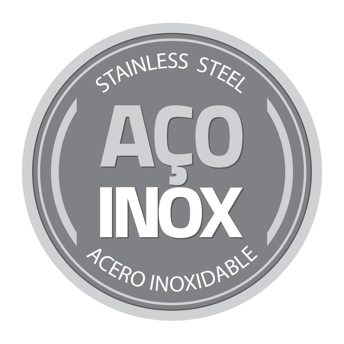 Jogo de Potes Tramontina Freezinox em Aço Inox com Tampa Plástica 3 Peças