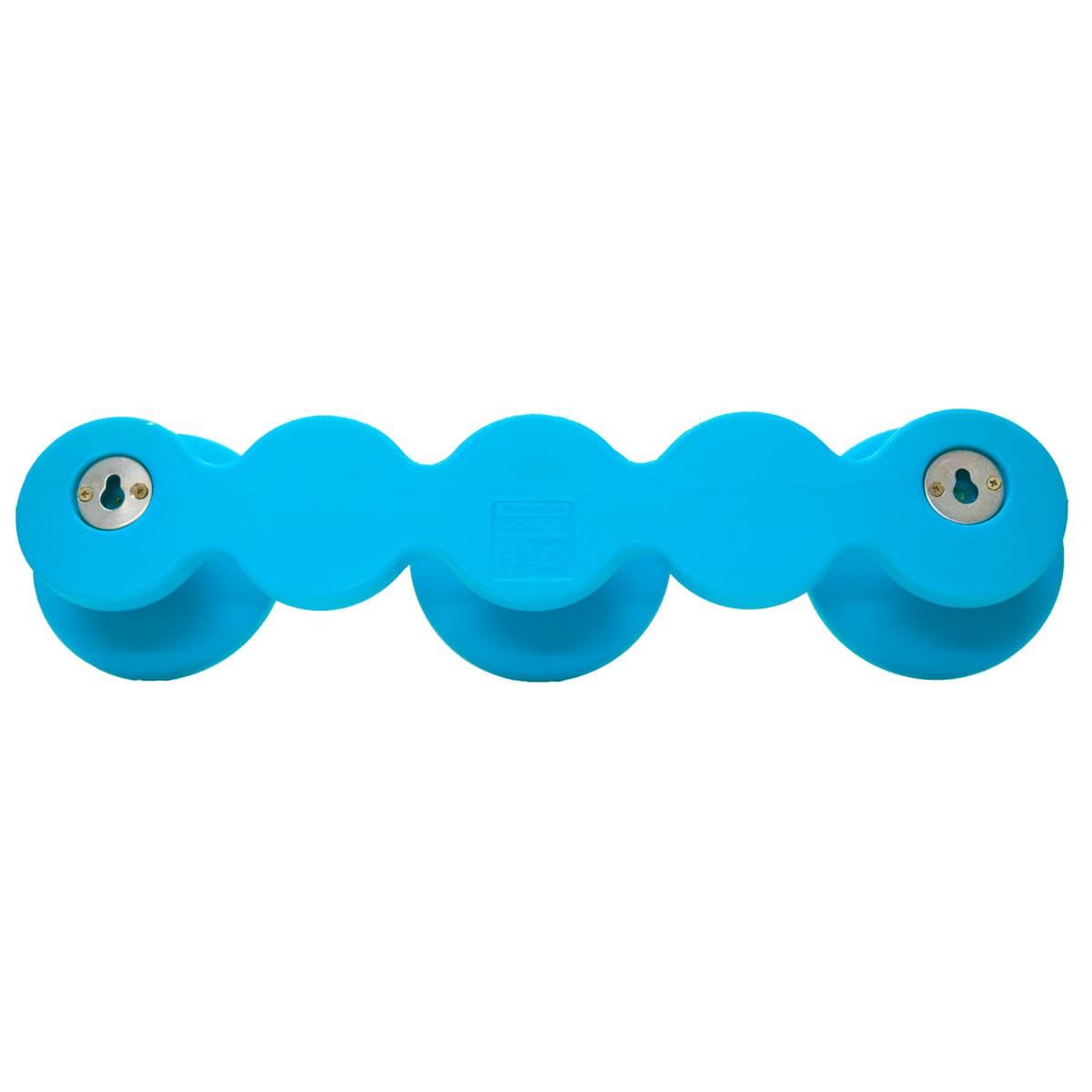 Cabide Infantil Tramontina Bola em Polietileno Azul