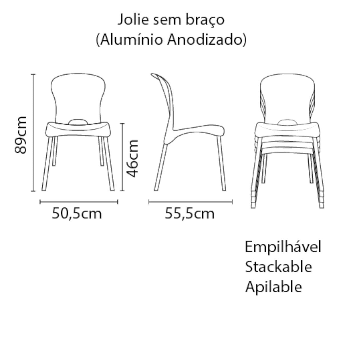Cadeira Tramontina Jolie Vermelha em Polipropileno com Pernas Anodizadas