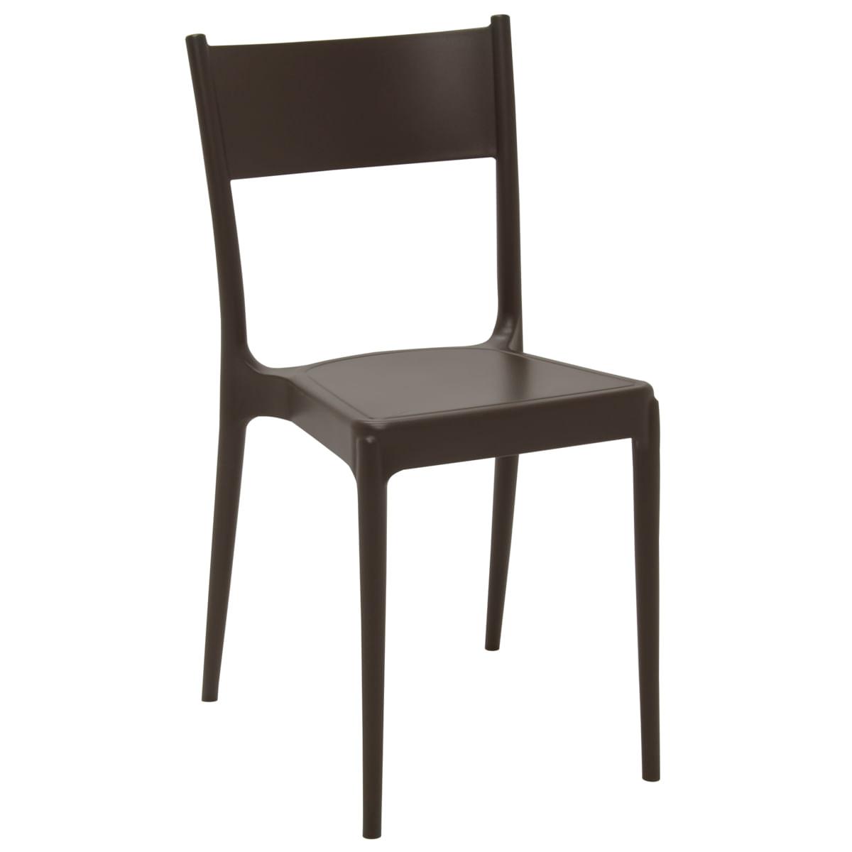 Cadeira Tramontina Diana ECO em Polipropileno Reciclado Marrom