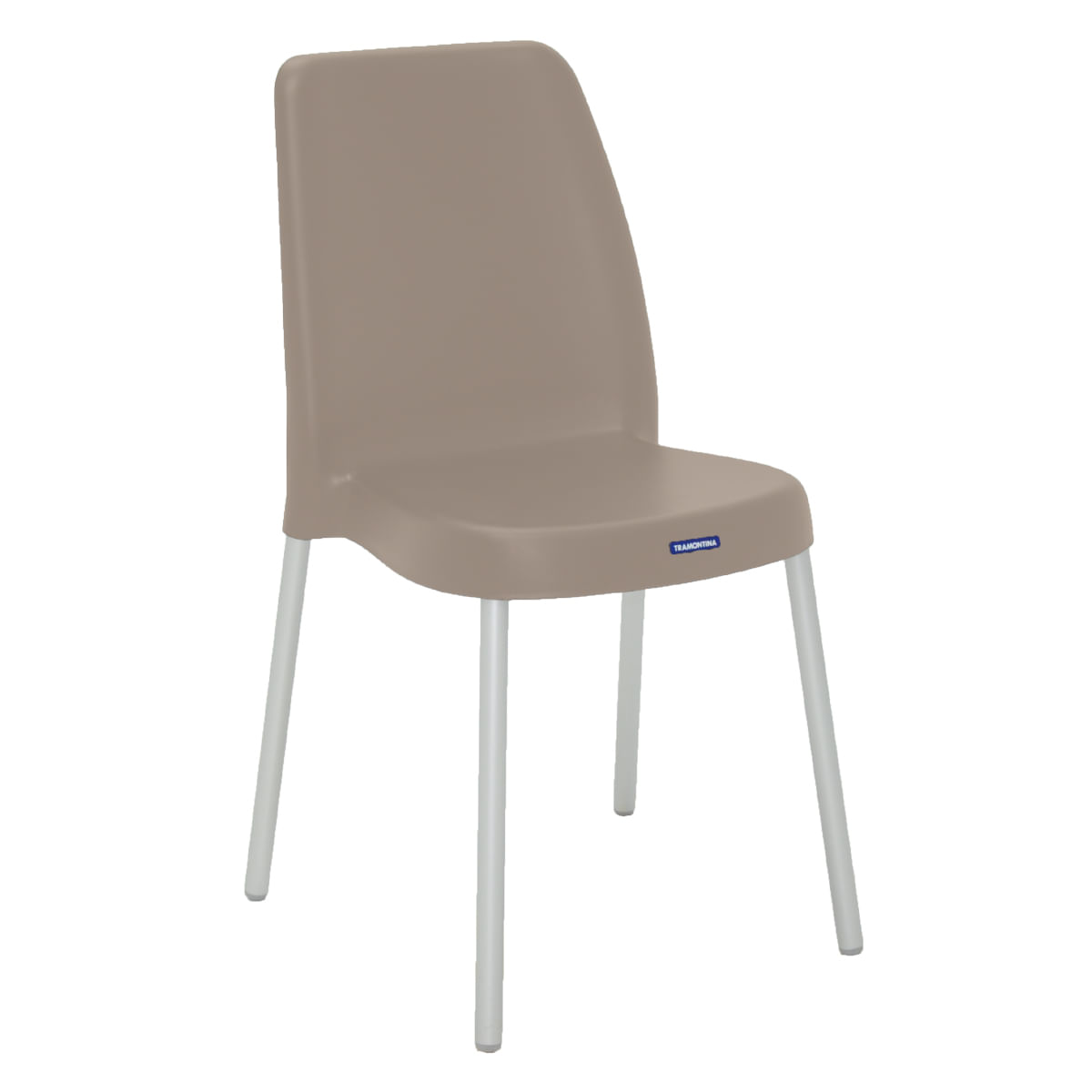 Cadeira Tramontina Vanda Camurça em Polipropileno com Pernas Anodizadas
