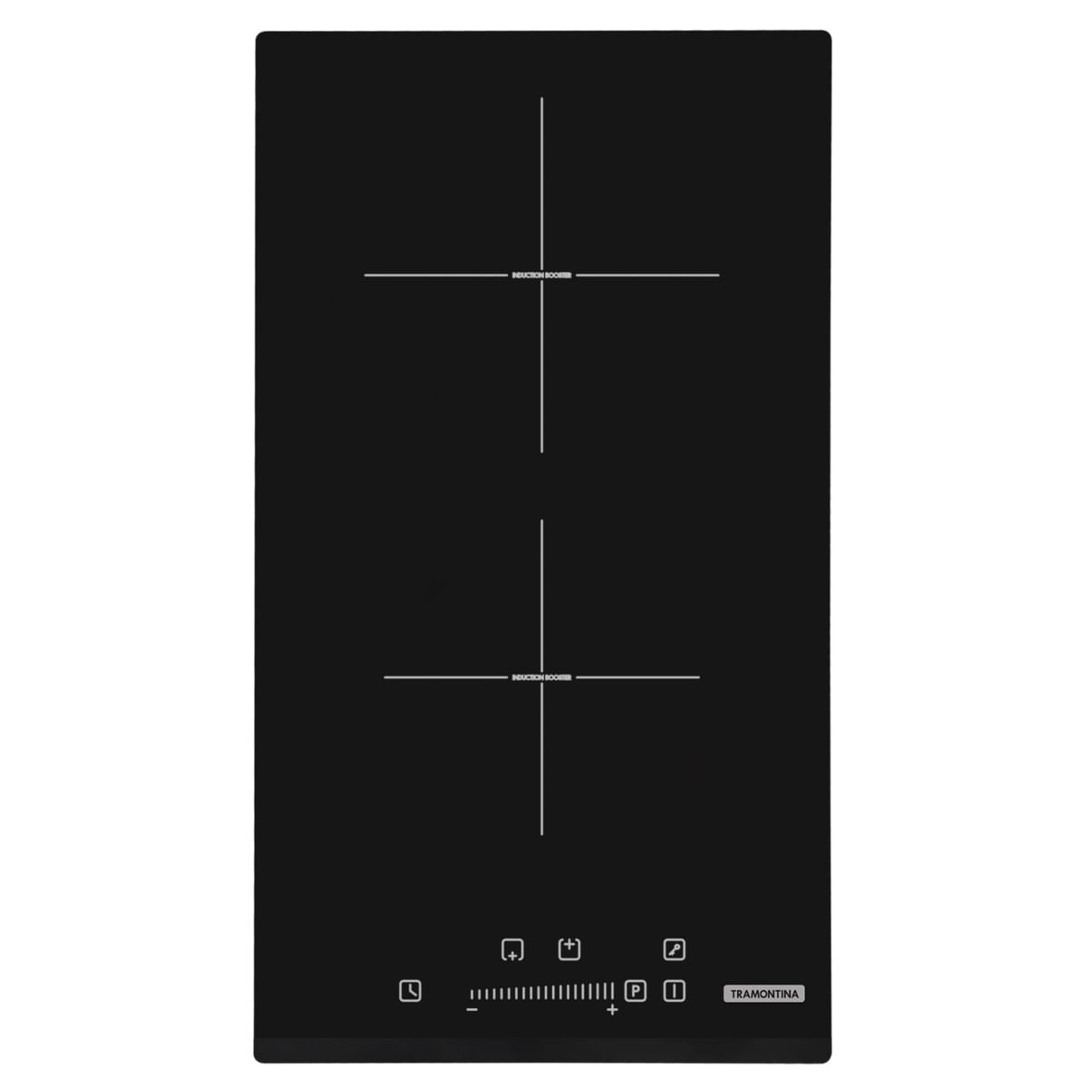 Cooktop por Indução Tramontina Dominó Slider 2EI 30 com 2 Áreas de Aquecimento e Comando Touch