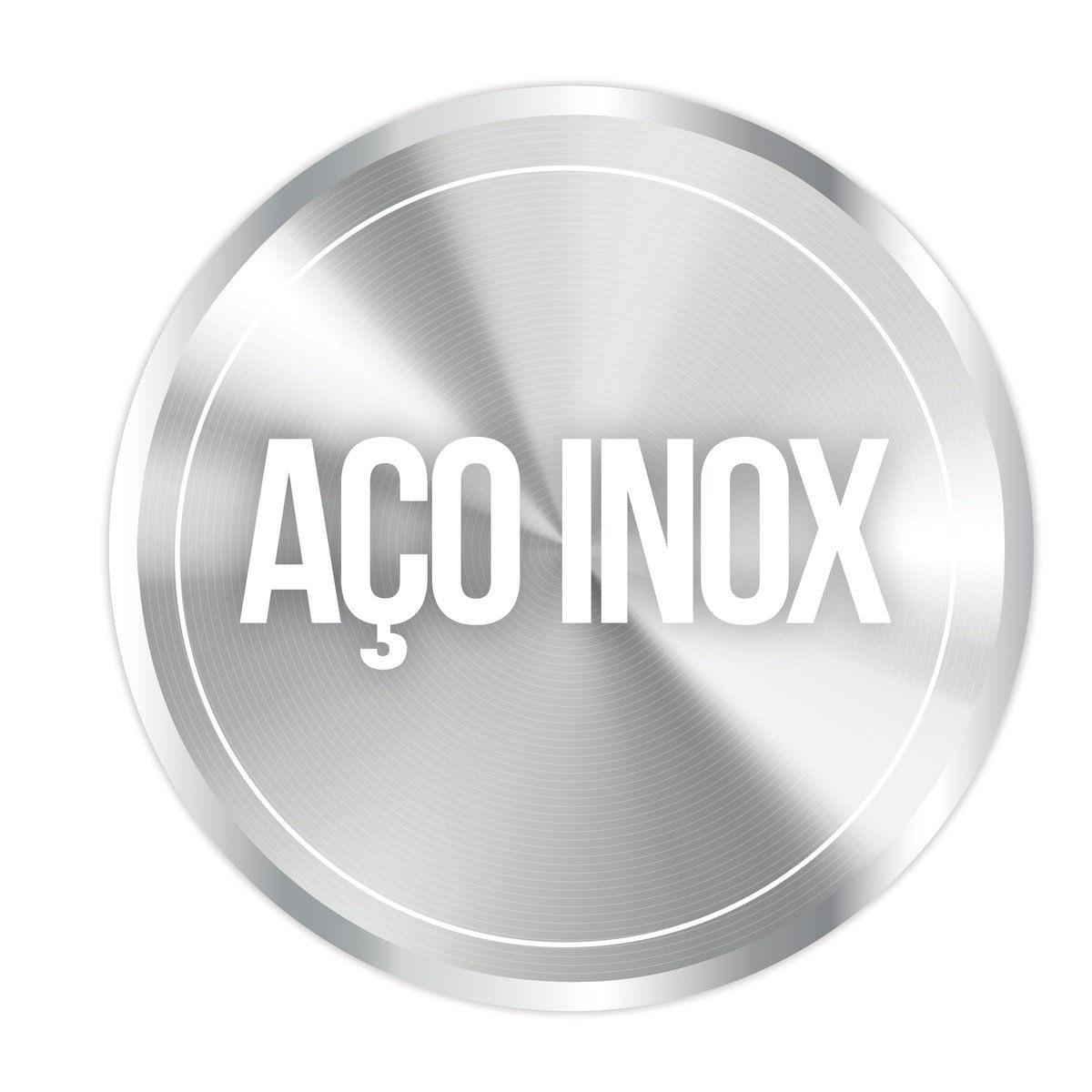 Misturador Monocomando Tramontina Angolare em Aço Inox Scotch Brite e Bica Articulada