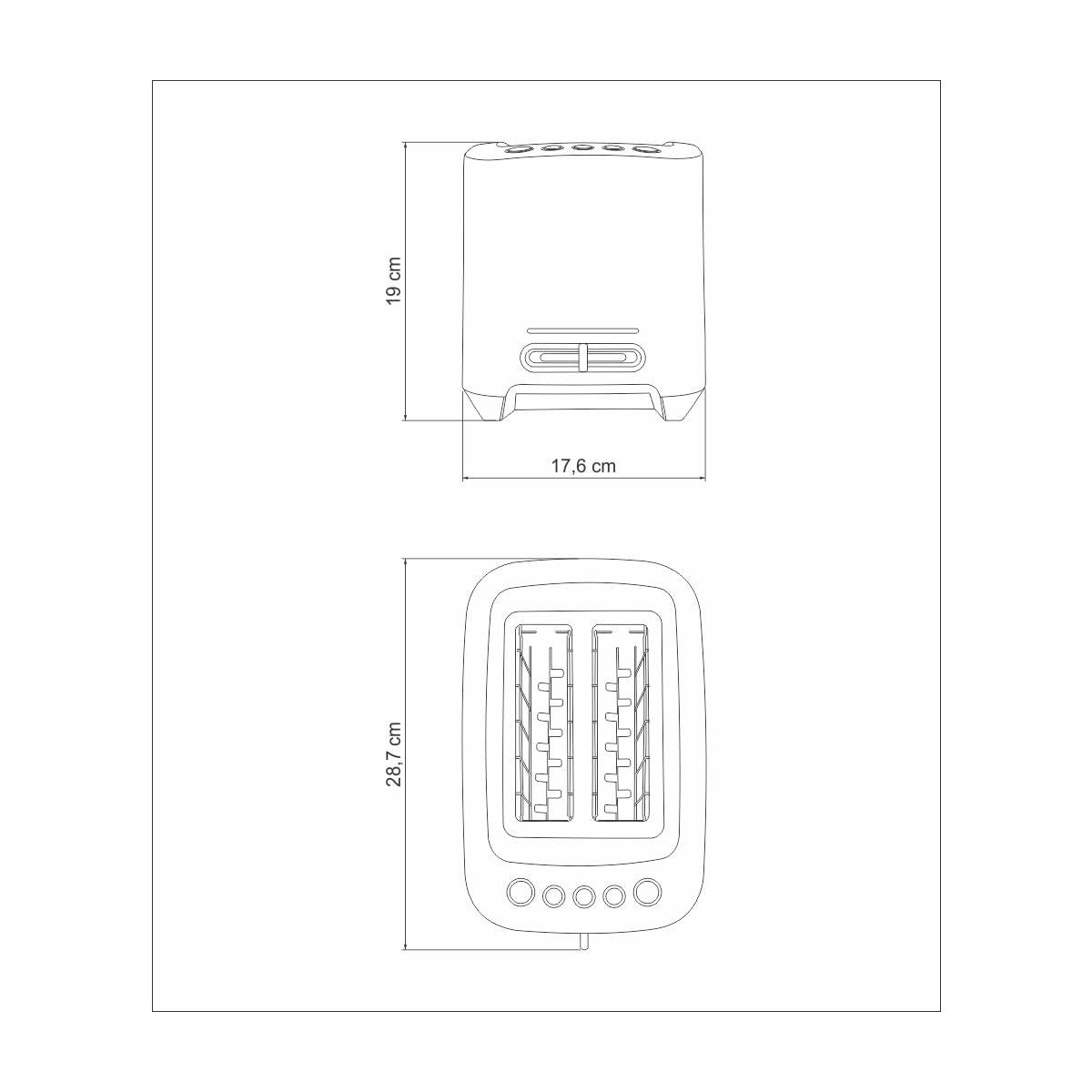 Torradeira Tramontina by Breville Smart em Alumínio Fundido 220 V