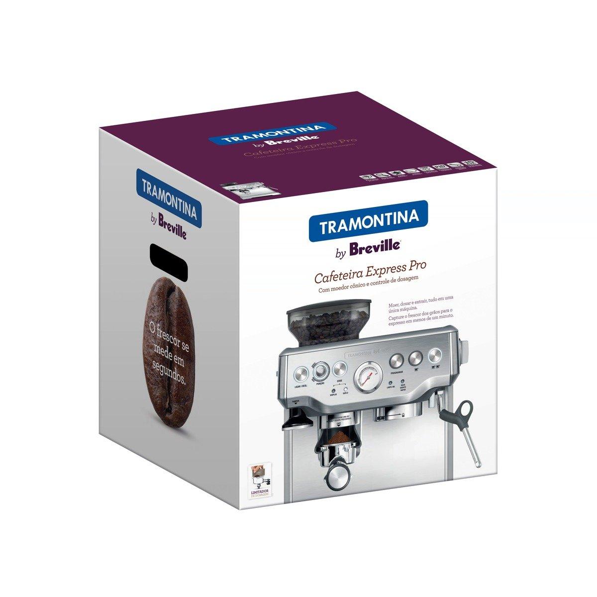 Cafeteira Elétrica Tramontina by Breville Express Pro em Aço Inox com Moedor 2 L 220 V