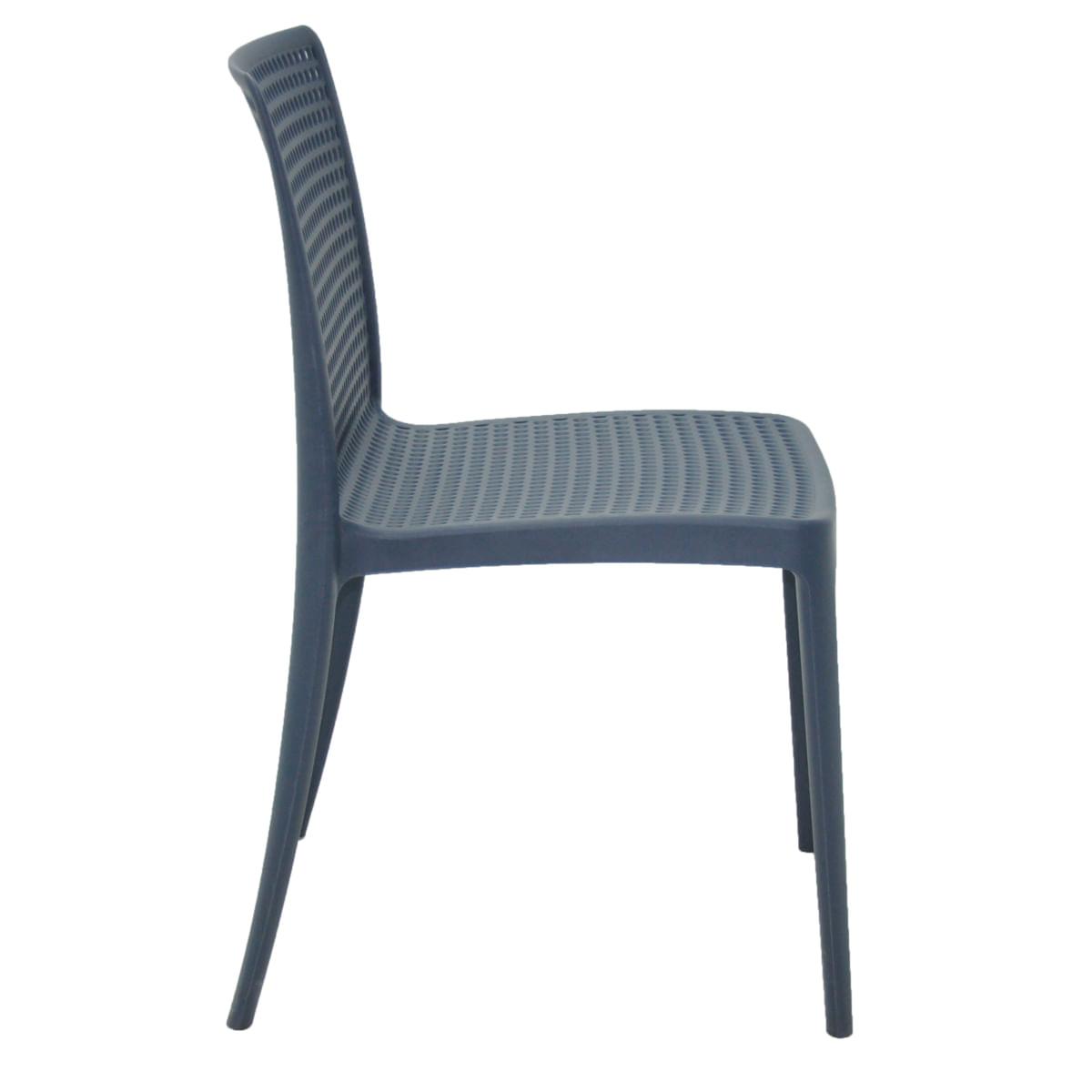 Cadeira Tramontina Isabelle em Polipropileno e Fibra de Vidro Azul Navy