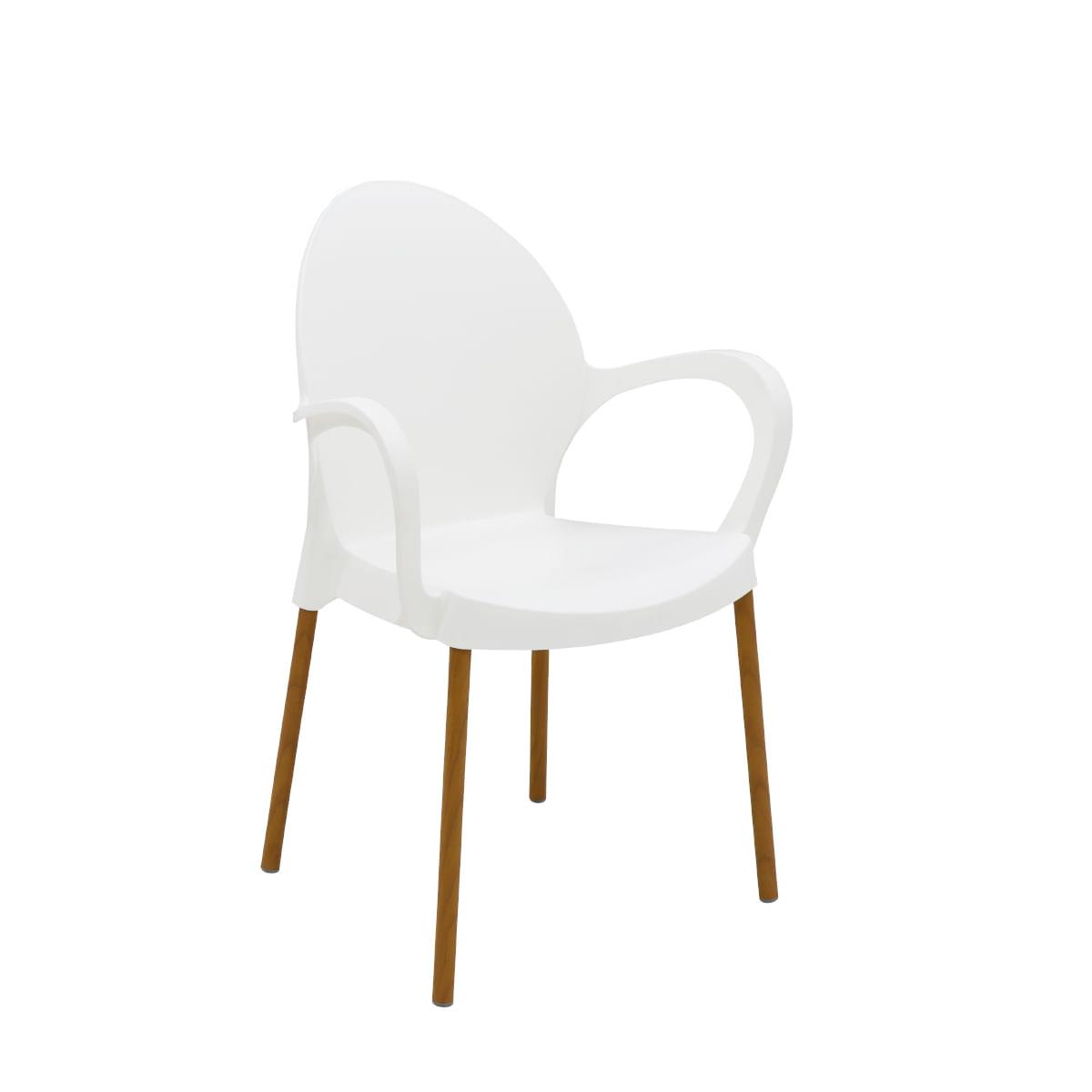 Cadeira Tramontina Grace Linheiro em Polipropileno Branco com Braços