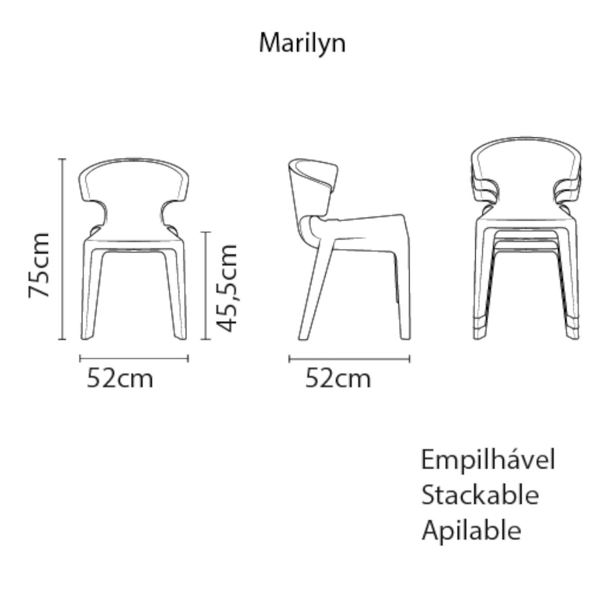 Cadeira Tramontina Marylin em Polietileno Branco