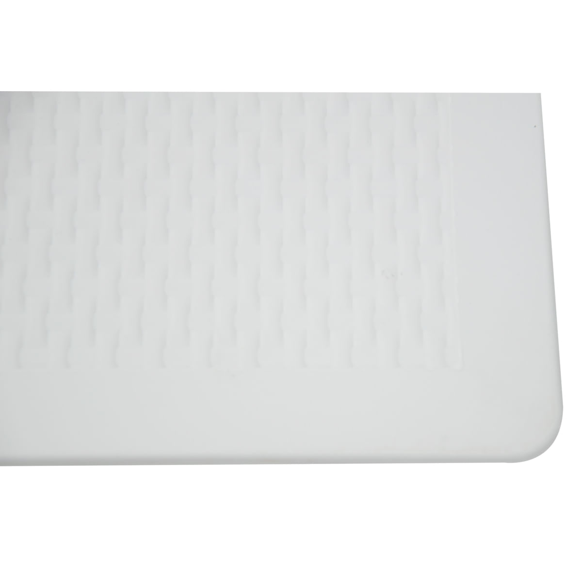 Mesa Tramontina Laura Rattan 70 cm em Polipropileno Branco com Pernas de Alumínio Anodizado