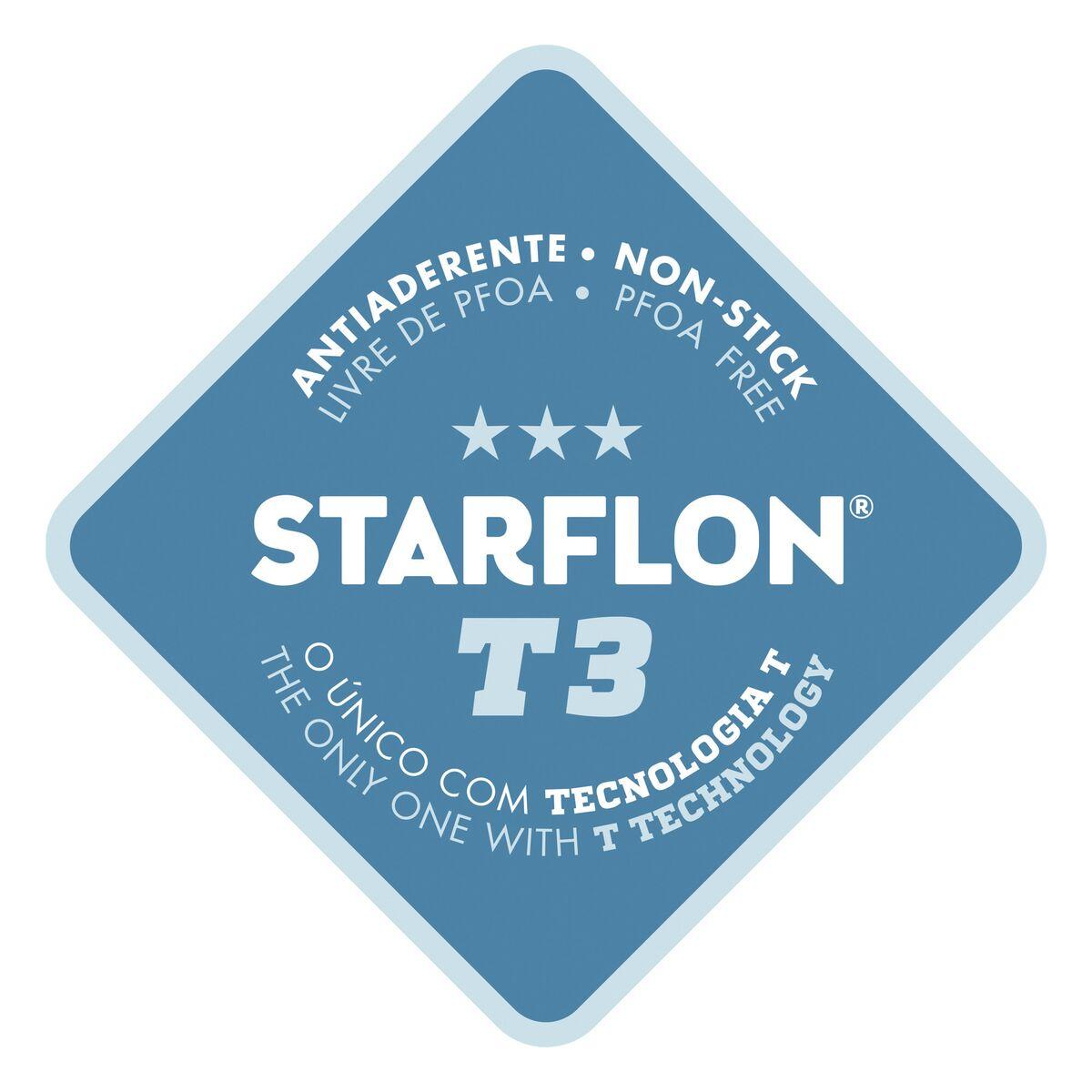 Caçarola Retangular Tramontina Refinatta em Alumínio Antiaderente Starflon T3 com Tampa Vermelha 24 cm 4,8 L